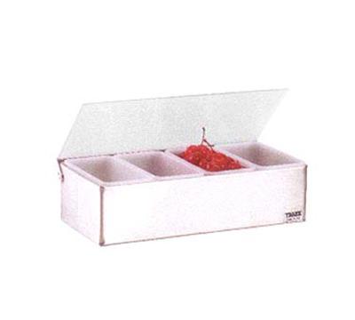 "Vollrath 4701 4-Pt Condiment Dispenser - 12x6x3-1/4"", Plastic Lid, Stainless"