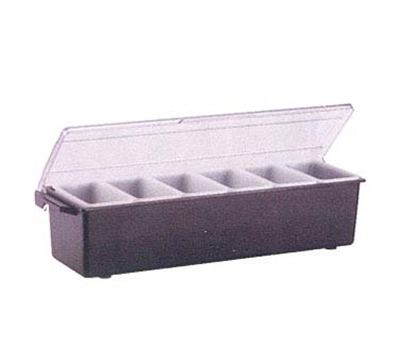 Vollrath 4743-06 6-Pt Condiment Dispenser Standard Lid - Plastic, Black