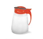 Vollrath 4748-02 48-oz Syrup Server - White Poly Jar, Red Plastic Top