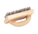 Vollrath 483 Butcher Block Brush w/ Curved Handle, 4 x 9-in