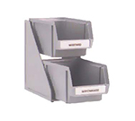 "Vollrath 4840-06 2-Tier Condiment Self-Serve System Set - (2) 8"" Bins - Plastic, Black"