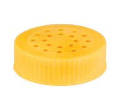 Vollrath 4907-08 Shaker Dredge Lid - Large, Plastic Yellow