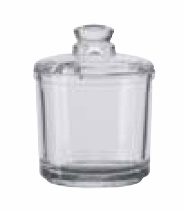 Vollrath 527 6-oz Condiment Jar with Lid - Glass