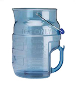 Vollrath 7005 Round Ice Tote/ 4-gal Capacity, Clear Blue
