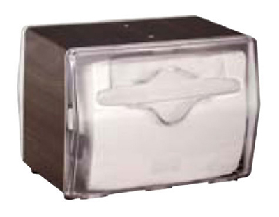Vollrath 7545-12 Napkin Dispenser - Table Type, Clear Face, Walnut