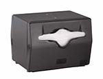 Vollrath 8545-06 Napkin Dispenser - 2-Sided, Table Type, Black Face, Black