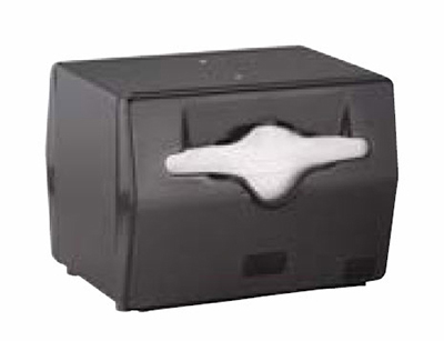 Vollrath 8540-06 Napkin Dispenser - Table Type, Black Face, Black
