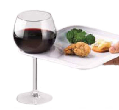 Vollrath CP8-05 Cocktail Plate w/ Opening For Stemware, 8-in, Melamine, White
