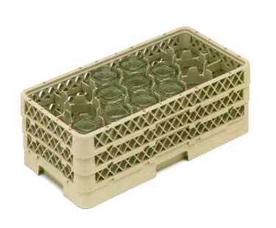 Vollrath HR-1D1DD Dishwasher Rack - Half-Size, 17-Compartment, (3)Compartment Extenders, Beige