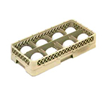 Vollrath HR-1B1BA Dishwasher Rack - Half-Size, 8-Compartment, (1)Open, (2)Compartment Extender, Beige