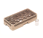 Vollrath HR-1D1A Dishwasher Rack - Half-Size, 17-Compartment, (1)Open, (1)Compartment Extender, Beige