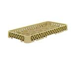 """Vollrath HR-F Dishwasher Rack Extender - Half-Size, 17-Compartment, 3"""" Beige"""