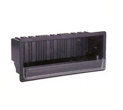 """Vollrath MRBM-2 In-Counter Receptor Box - 7-1/2x17-1/8x6-3/8"""" Black"""