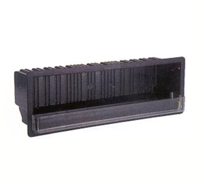 """Vollrath MRBM-3 In-Counter Receptor Box - 7-1/2x21-5/8x6-3/8"""" Black"""