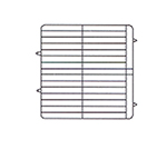 Vollrath PM3208-3-08 Dishwasher Rack - 32-Plate Capacity, 3-Extenders, Yellow
