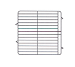Vollrath PM3208-4-02 Dishwasher Rack - 32-Plate Capacity, 4-Extenders, Red