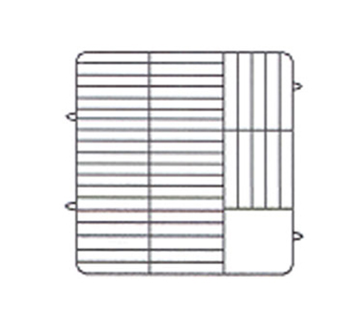 Vollrath PM4806-2 Dishwasher Rack - 48-Plate Capacity, 2-Extenders, Beige