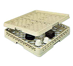 Vollrath TR-13BBB Full-Size Glassware Rack - Low-Profile 25-Compartment, 3-Extenders, Beige