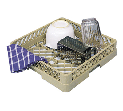 Vollrath TR-1A-06 Full-Size Dishwasher Rack - Open with 1-Extender, Black