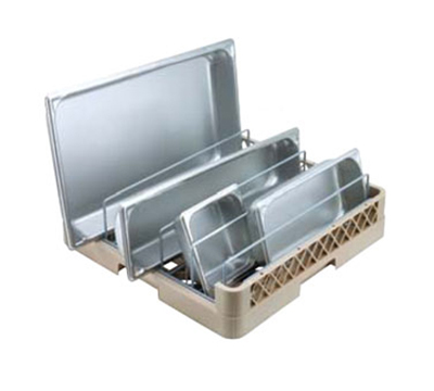 Vollrath TR-22 Full-Size Dishwasher Rack - 5-Compartment, Open End, Beige