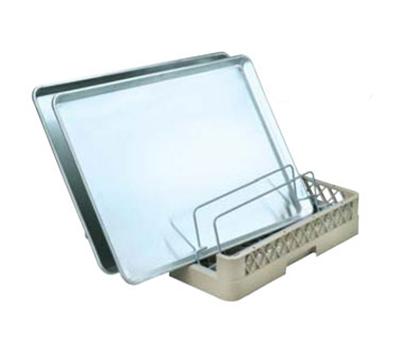 Vollrath TR-23 Full-Size Dishwasher Sheet Pan Rack - Holds 3 Pans, Open End, Beige