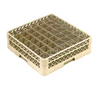 Vollrath TR-9EA-08 Full-Size Glassware Rack - 49-Compartment, 2-Extenders (1 Open), Yellow