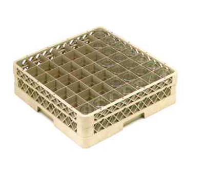 Vollrath TR-9EA-19 Full-Size Glassware Rack - 49-Compartment, 2-Extenders (1 Open), Green