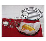 Vollrath WB-8006 Oval Wire Serving Basket - Chrome