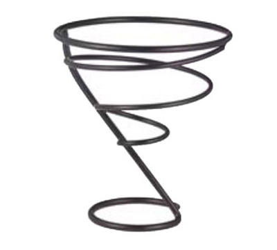 "Vollrath WC-6004-06 5-1/4"" Wire Cone Basket - Black"