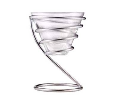 "Vollrath WC-6004 5-1/4"" Wire Cone Basket - Chrome"