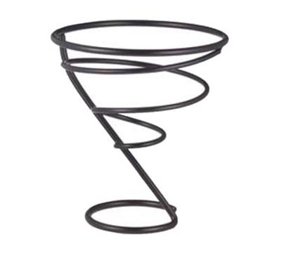 "Vollrath WC-6007-06 7"" Wire Cone Basket - Black"