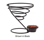 "Vollrath WC-6009 7"" Wire Cone Basket with Ramekin Holder - Chrome"