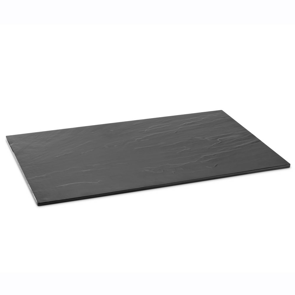 "Vollrath V22161 Rectangular Reversible Serving Board - 20.87"" x 12.75"", Melamine Slate/Granite"