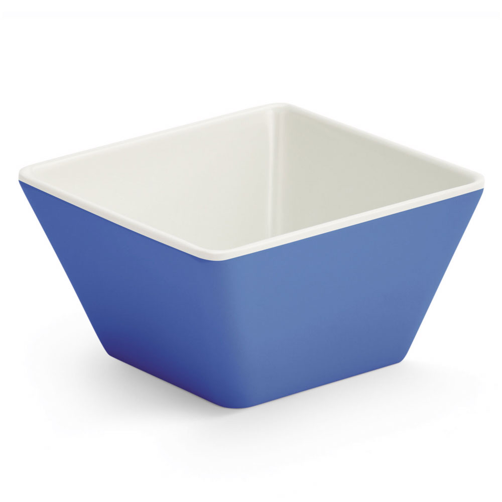 Vollrath V2220030 4-oz Square Serving Bowl - Melamine, Blue