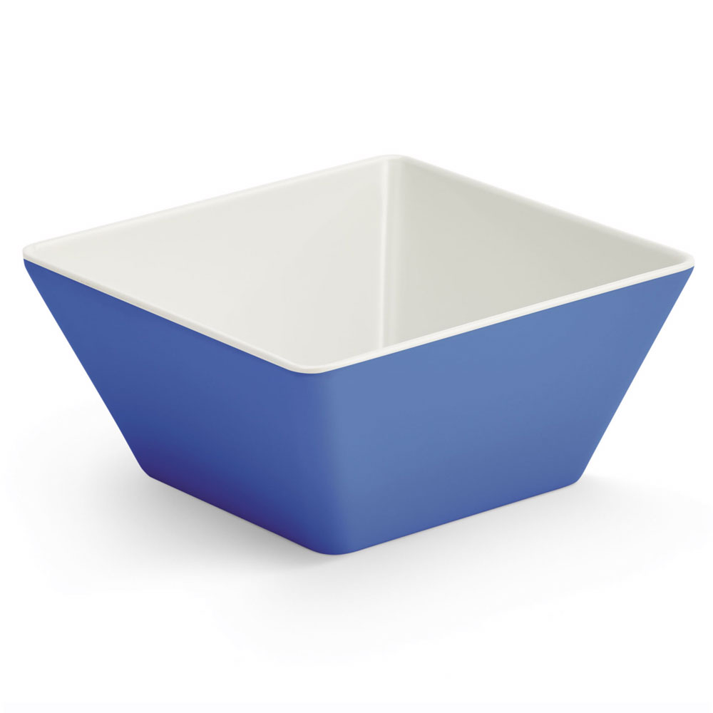 Vollrath V2220230 50-oz Square Serving Bowl - Melamine, Blue