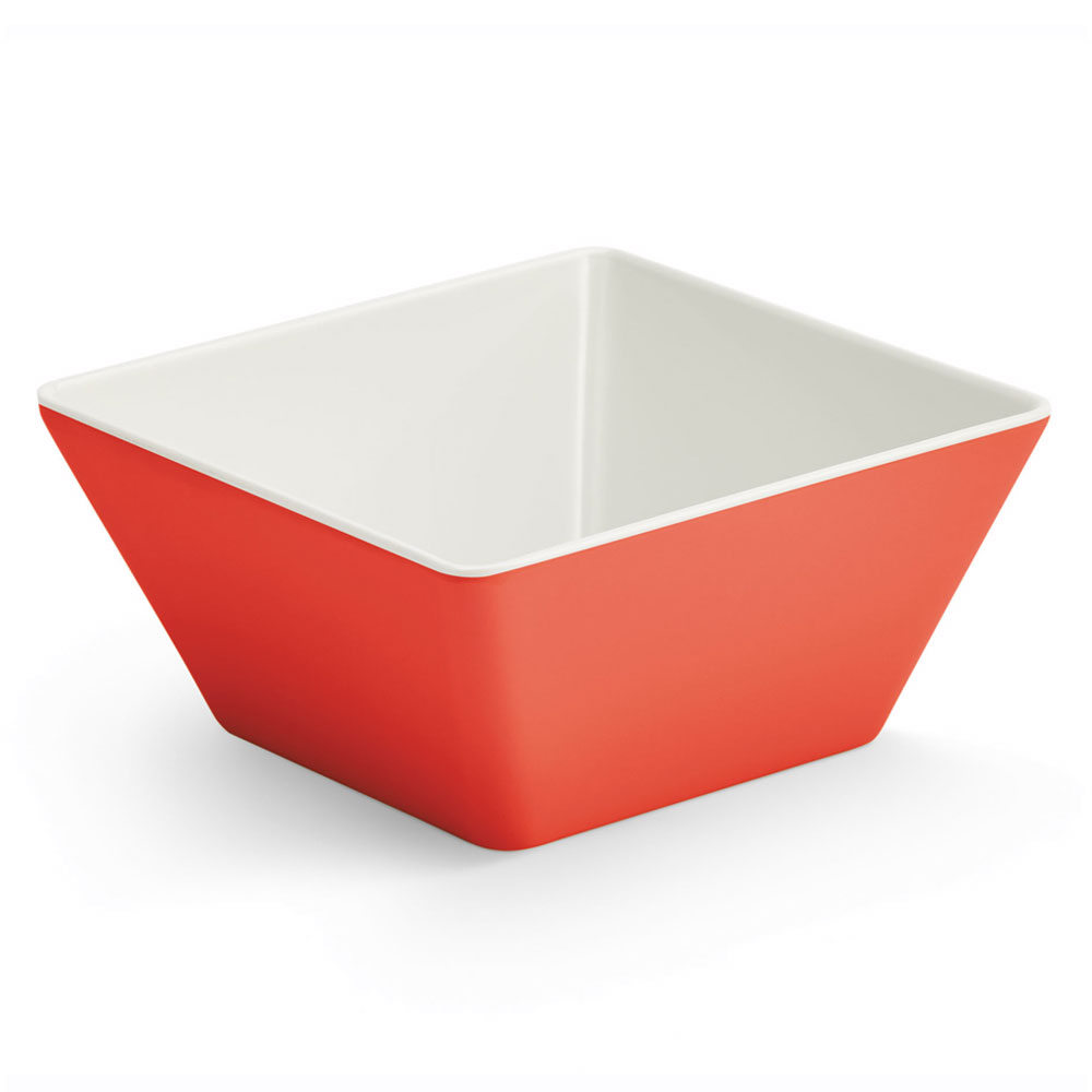 Vollrath V2220240 50-oz Square Serving Bowl - Melamine, Red