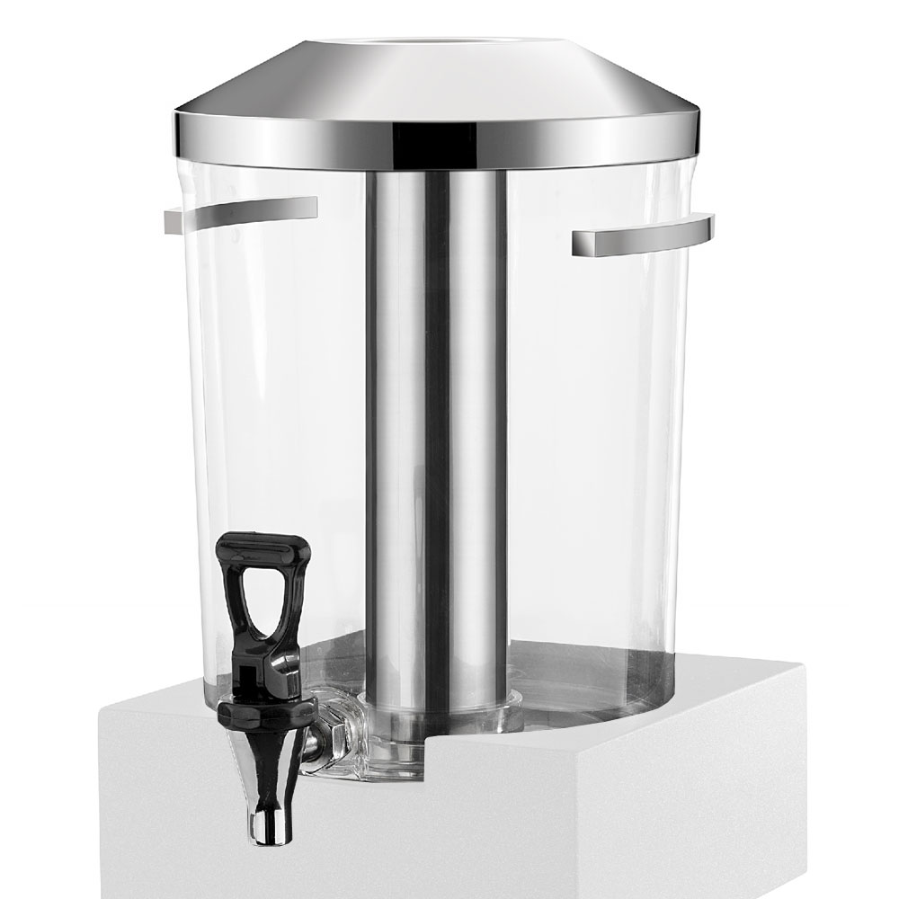 Vollrath V904800 1.69-gal Beverage Dispenser - Acrylic, Black Wood Base