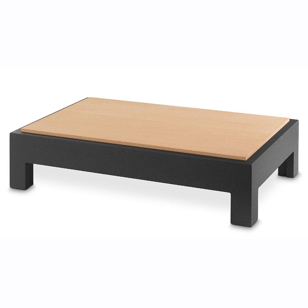 """Vollrath V904850 Cutting Board Table - 20.87"""" x 12.75"""" x 4.68"""", Wood, Black"""