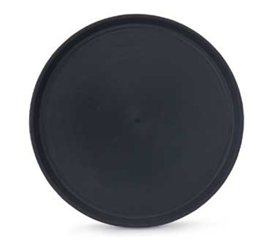 "Vollrath 1476-0606 16"" Round Serving Tray - Reinforced Plastic, Black"