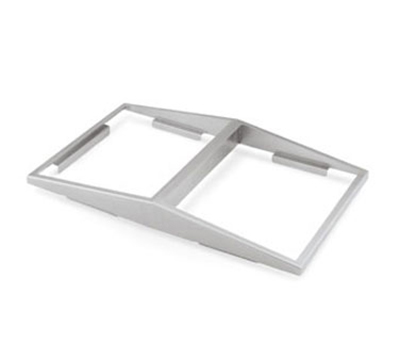 Vollrath 19184 Angled Adapter Plate, Holds Two 1/2 Size Pans, Stainless Steel