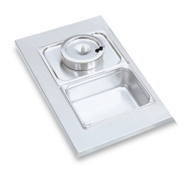 "Vollrath 19197 Adapter Plate - Half Size,  6-3/8"" Insert Hole, Stainless"