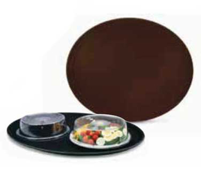 Vollrath 2700L-01 Oval Serving Tray - Fiberglass, Brown