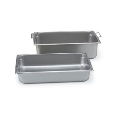Vollrath 30046 Full-Size Steam Pan w/ Handles, Stainless