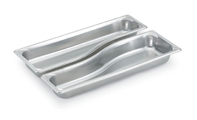 Vollrath 3100040 Full-Size Long Steam Pan - Wild, Stainless