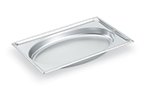Vollrath 3101040 Full-Size Steam Pan - Oval, Stainless