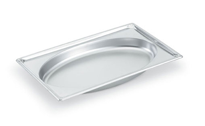 Vollrath 3101020 Full-Size Steam Pan - Oval, Stainless