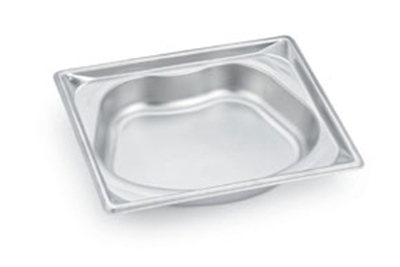 Vollrath 3102120 Super Pan Shapes Half-Size Steam Pan - Oval, Stainless