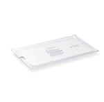 Vollrath 32300 1/3 Size Slotted Food Pan Cover - Clear