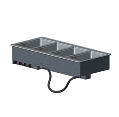 Vollrath 3640780 4-Well Modular Drop-In - Thermostat, Manifold Drain, Auto Fill, 625W, 208v