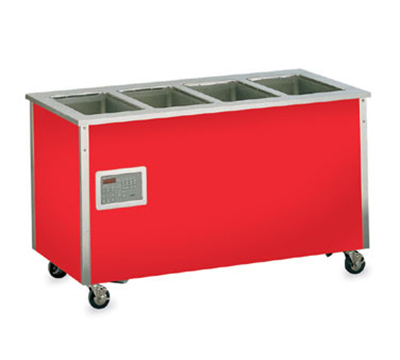 "Vollrath 36240 60"" Hot Food Bar - 4 Full Size Pan Wells, 27x60x28"", Enclosed Base, Stainless"